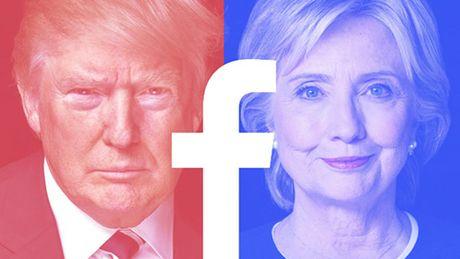 Donald Trump thao mang xa hoi hon Hillary Clinton - Anh 1