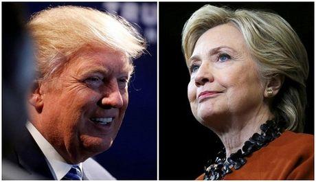 Ong Trump dang theo sat nut ba Clinton - Anh 1