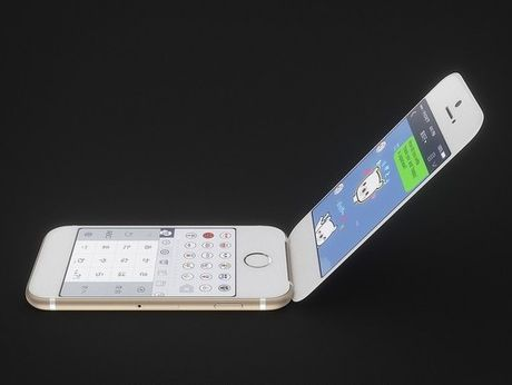 Apple bi mat thu nghiem mau iPhone nap gap? - Anh 1