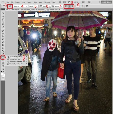 Huong dan viet chu len anh bang Photoshop - Anh 2