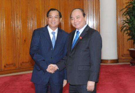 Thu tuong Nguyen Xuan Phuc tiep Bo truong Ke hoach va Dau tu Lao - Anh 1