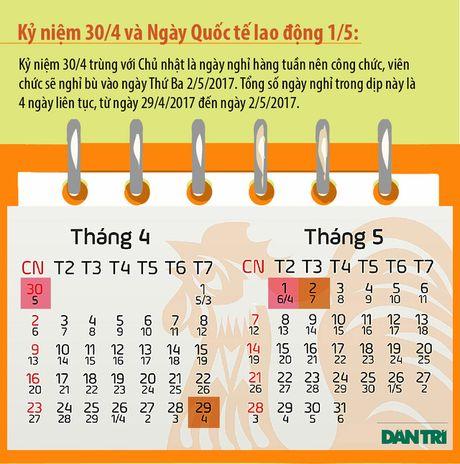 Da co phuong an nghi Le va Tet Duong lich nam 2017 - Anh 3