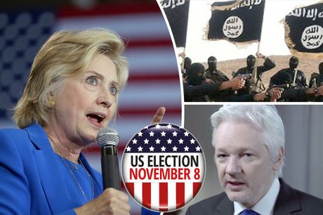 Bau cu My: Ong trum Wikileaks tung don manh vao Hillary Clinton - Anh 1