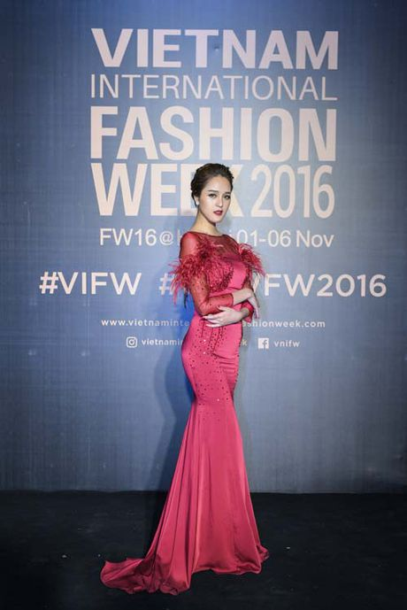 Dan hoa, a hau kieu sa tren tham do Vietnam International Fashion Week - Anh 2