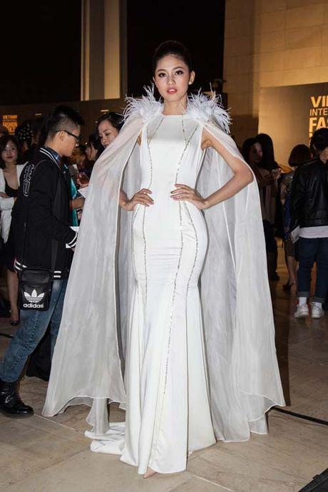 Dan hoa, a hau kieu sa tren tham do Vietnam International Fashion Week - Anh 3