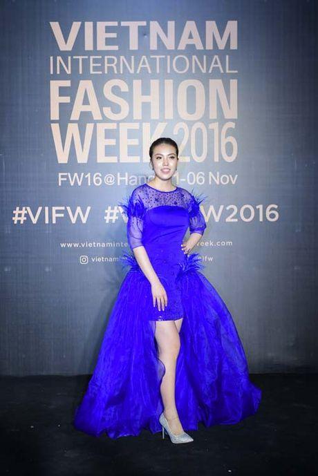 Dan hoa, a hau kieu sa tren tham do Vietnam International Fashion Week - Anh 4