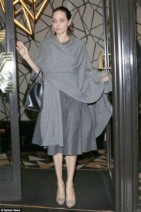 Angelina Jolie gay roc con 34kg sau khi de don ly hon - Anh 1