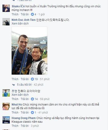 Xuan Truong khong ra san, fan Viet van mung Incheon tru hang thanh cong - Anh 1