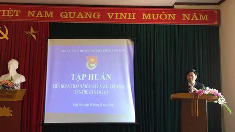 Tap huan chuong trinh Lien hoan thanh nien Viet Nam – Trung Quoc nam 2016 - Anh 1