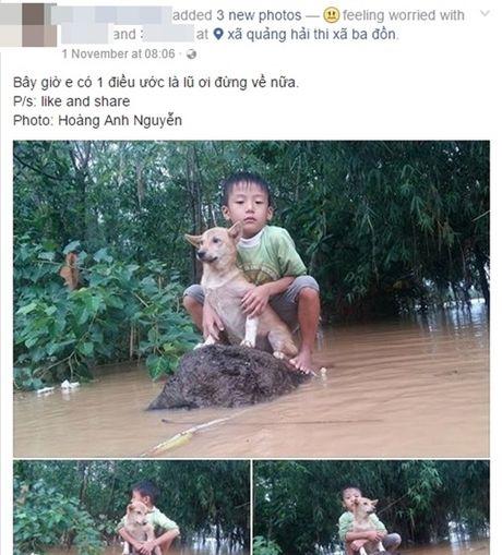 Rot nuoc mat canh cau be om cung cho cung giua lu du mien Trung - Anh 1