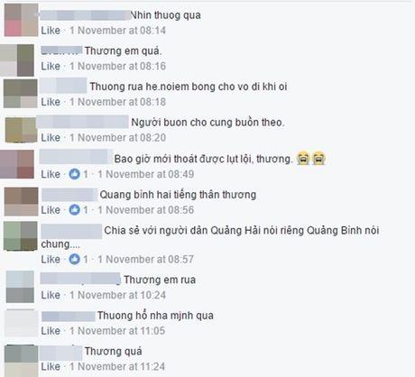 Rot nuoc mat canh cau be om cung cho cung giua lu du mien Trung - Anh 5