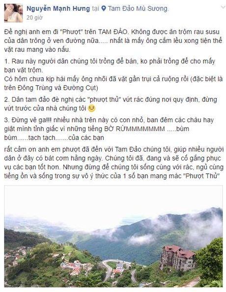 Nguoi dan Tam Dao to phuot thu y thuc kem - Anh 1