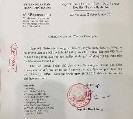 Chu tich Ha Noi Nguyen Duc Chung chi dao xu ly vu 2 phong vien bi danh - Anh 1