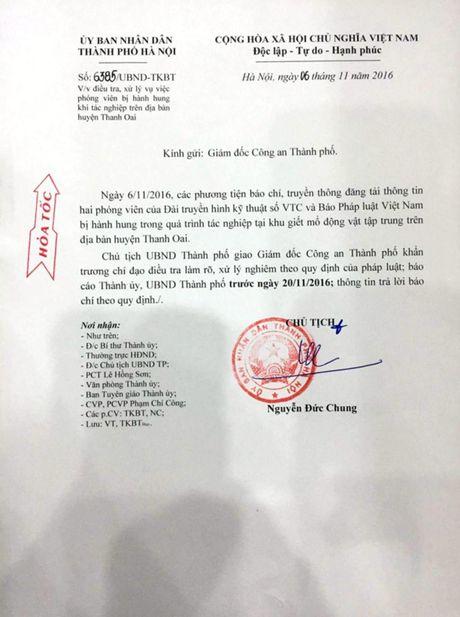 Chu tich Nguyen Duc Chung chi dao dieu tra, lam ro 2 phong vien bi hanh hung o Thanh Oai - Anh 1