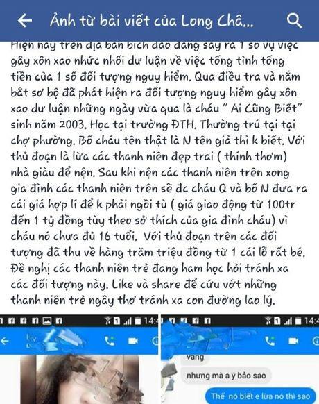 Ninh Binh: Bi boi nho tren facebook, nu sinh khung hoang phai chuyen vao Nam - Anh 2