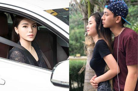 Hoa hau Ky Duyen khoe xe hop tien ti; ca si Hoai Lam khoe ban gai tin don - Anh 1