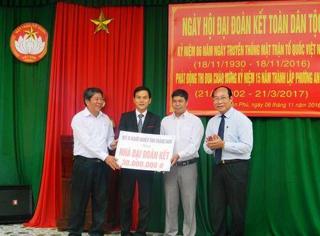 Chu tich Mat tran tinh Quang Nam du Ngay hoi dai doan ket toan dan toc - Anh 4
