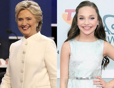 Co gai co guong mat giong het Hillary Clinton hoi tre - Anh 2