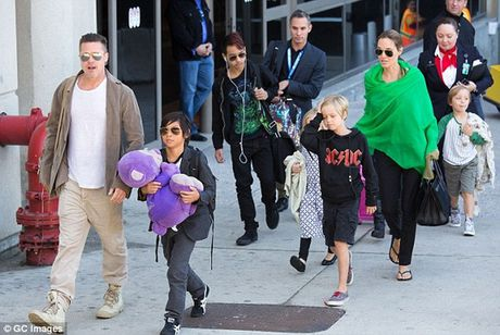 Brad Pitt doi cung nuoi con, Angelina Jolie suy sup - Anh 1