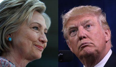 Ung cu vien Hillary Clinton van dan truoc Donald Trump - Anh 1