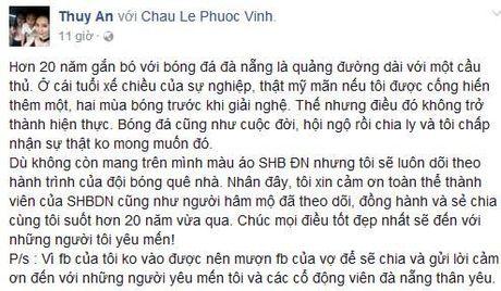 Phuoc Vinh trai long khi chia tay SHB Da Nang - Anh 2