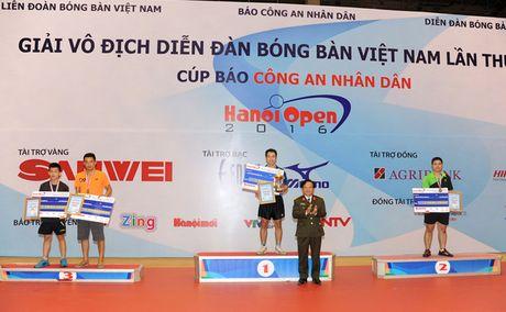 Be mac giai vo dich Dien dan bong ban Viet Nam tranh Cup Bao CAND lan thu 10 - Anh 10