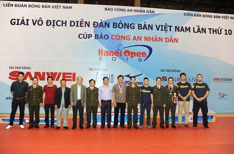 Be mac giai vo dich Dien dan bong ban Viet Nam tranh Cup Bao CAND lan thu 10 - Anh 1