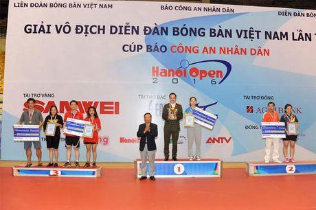 Be mac giai vo dich Dien dan bong ban Viet Nam tranh Cup Bao CAND lan thu 10 - Anh 2