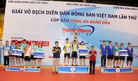 Be mac giai vo dich Dien dan bong ban Viet Nam tranh Cup Bao CAND lan thu 10 - Anh 6