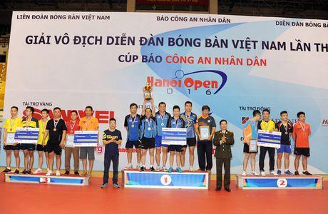 Be mac giai vo dich Dien dan bong ban Viet Nam tranh Cup Bao CAND lan thu 10 - Anh 9
