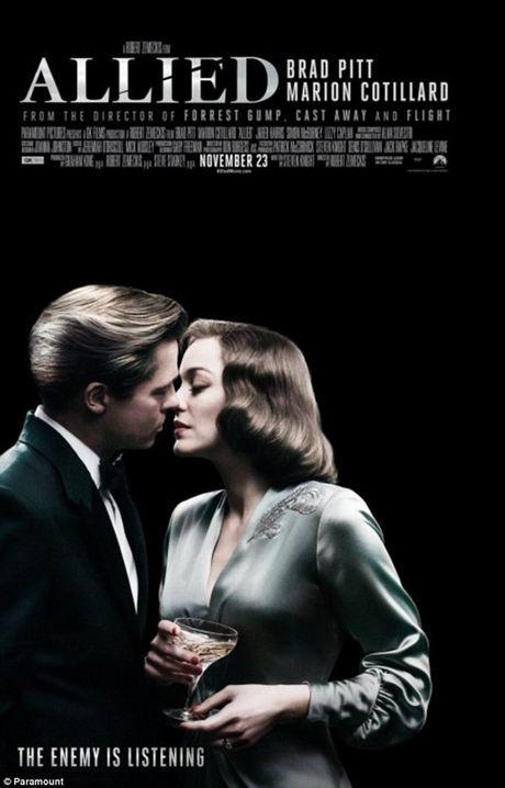 Brad Pitt bo het viec quang ba 'Allied' vi vu li di Angelina Jolie - Anh 1