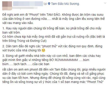 Tam Dao - Vinh Phuc: Cac phuot thu xin dung vut rac, trom rau - Anh 1