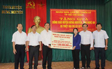 TP Ho Chi Minh: Gan 11 ty dong ho tro dong bao mien Trung bi thien tai - Anh 1