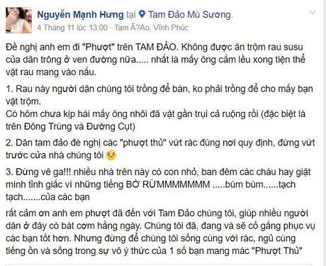 Dan phuot thu nhan nhieu lan an trom su su o Tam Dao - Anh 1