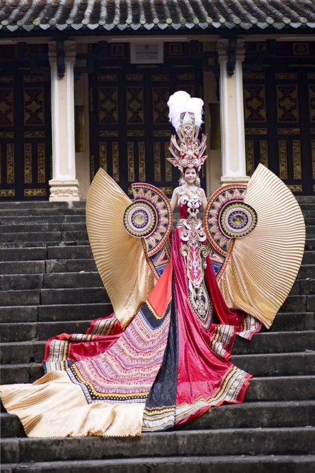 Hoa hau goc Viet Xuan Thuy lot Top 5 Hoa hau Quy ba The gioi - Anh 1