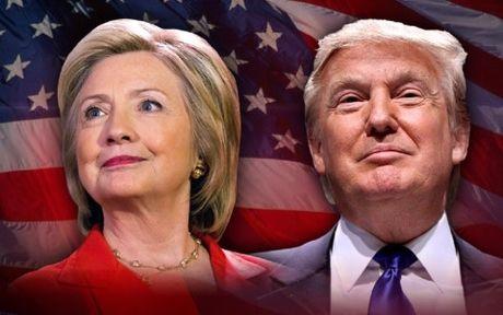 Trump-Clinton so ke quyet liet truoc ngay bau cu Tong thong My - Anh 1