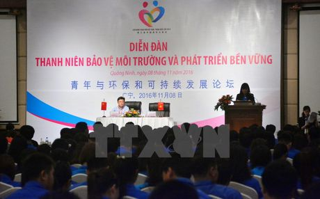 Thanh nien Viet Nam-Trung Quoc 'hien ke' bao ve moi truong - Anh 1