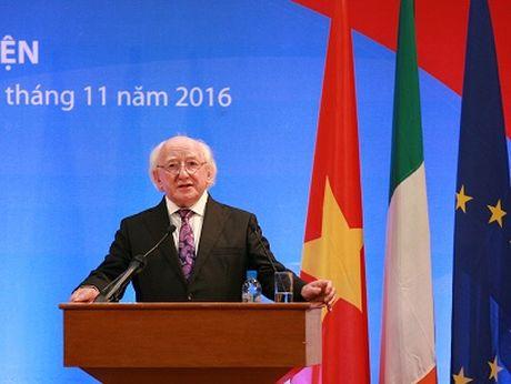 Tong thong Ireland tham Dai hoc Quoc gia Ha Noi - Anh 1