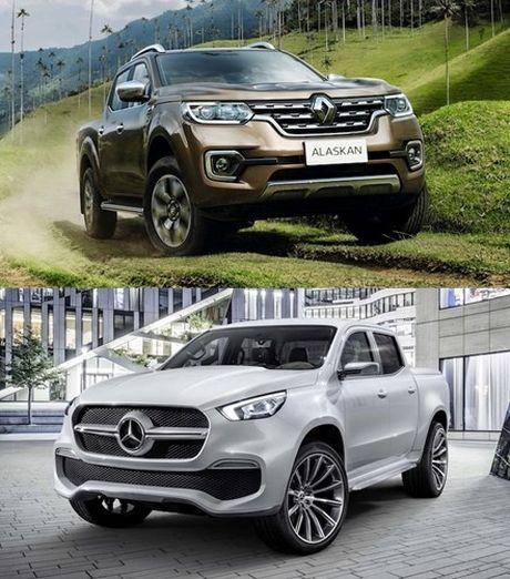 Ban tai 'sinh doi khac trung' Renault Alaskan - Mercedes X-Class - Anh 2