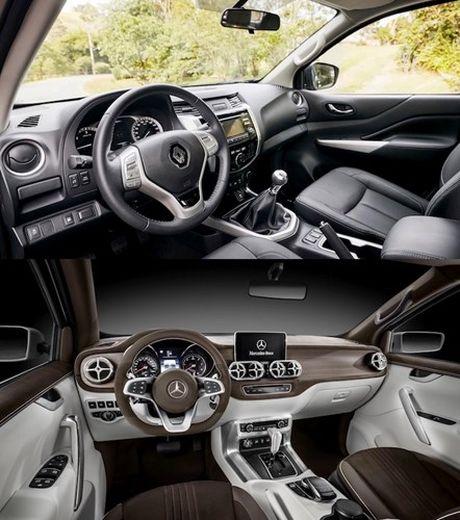Ban tai 'sinh doi khac trung' Renault Alaskan - Mercedes X-Class - Anh 5