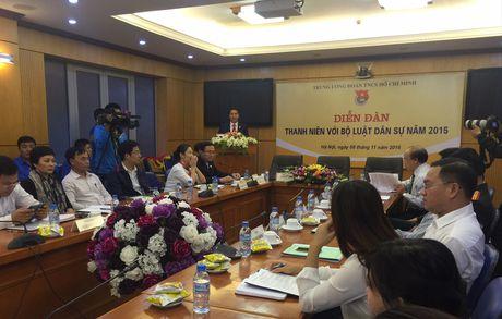 Dien dan 'Thanh nien voi Bo luat Dan su 2015' - Anh 1