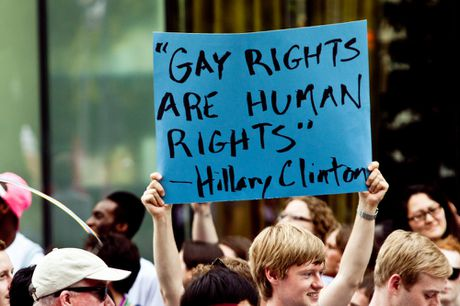 Hillary Clinton: 'Toi luon ung ho cong dong LGBT' - Anh 4