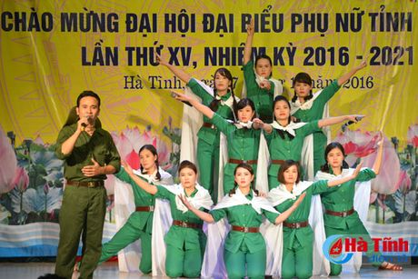 Lien hoan van nghe mung Dai hoi Phu nu tinh Ha Tinh - Anh 3