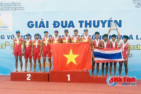 VDV Ha Tinh thang lon Giai Rowing vo dich va vo dich tre DNA - Anh 1