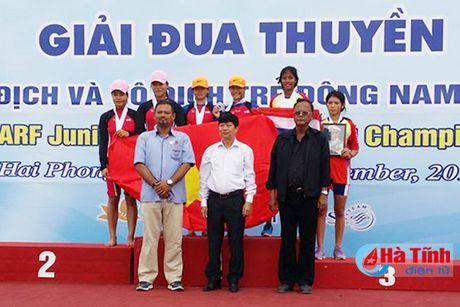 VDV Ha Tinh thang lon Giai Rowing vo dich va vo dich tre DNA - Anh 3