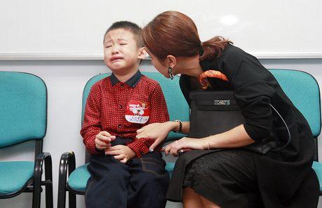Con trai MC Thanh Van oa khoc khi di casting - Anh 1