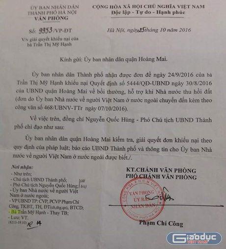 Thanh pho Ha Noi chi dao Hoang Mai giai quyet don khieu nai cua mot Viet kieu My - Anh 2
