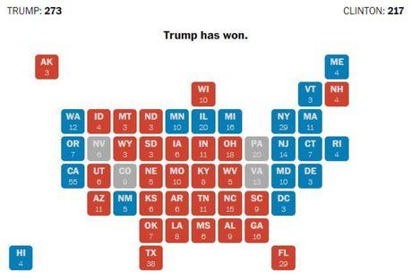 Bau cu My: Ong Trump se thang neu gianh duoc Michigan, Wiscousin? - Anh 1