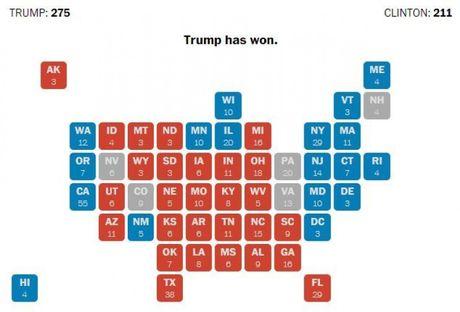 Bau cu My: Ong Trump se thang neu gianh duoc Michigan, Wiscousin? - Anh 2