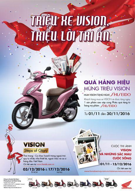 Hap dan chuoi chuong trinh ky niem 1 trieu xe Honda VISION - Anh 2